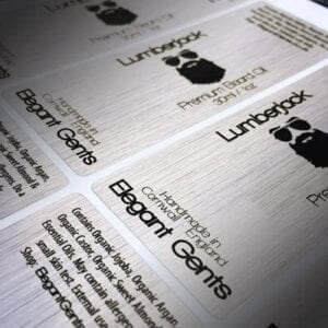 Brushed Aluminium Labels
