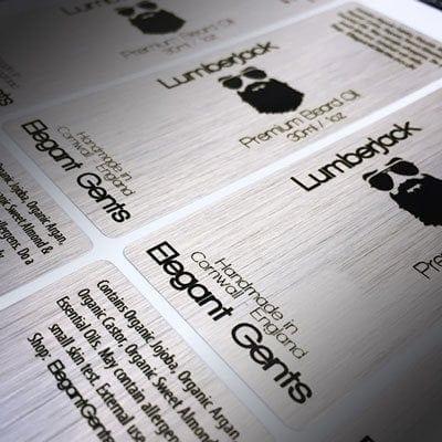 Brushed Aluminium Labels