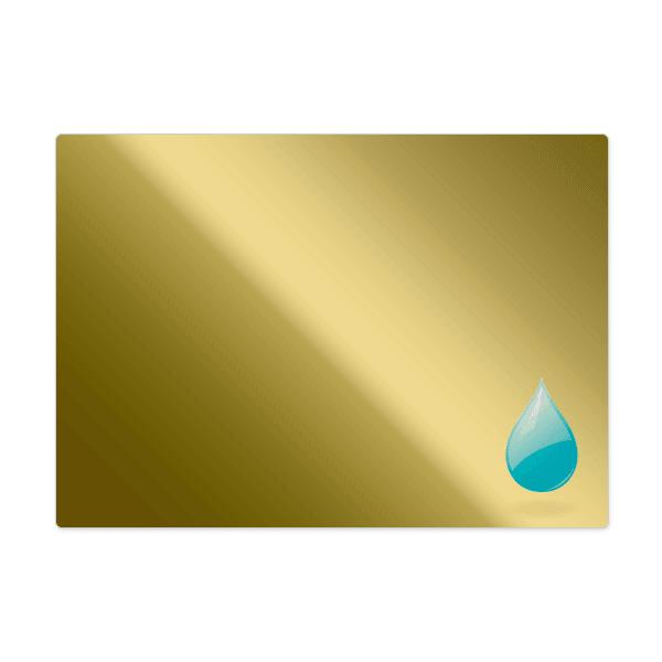 Rectangular Polished Gold Labels