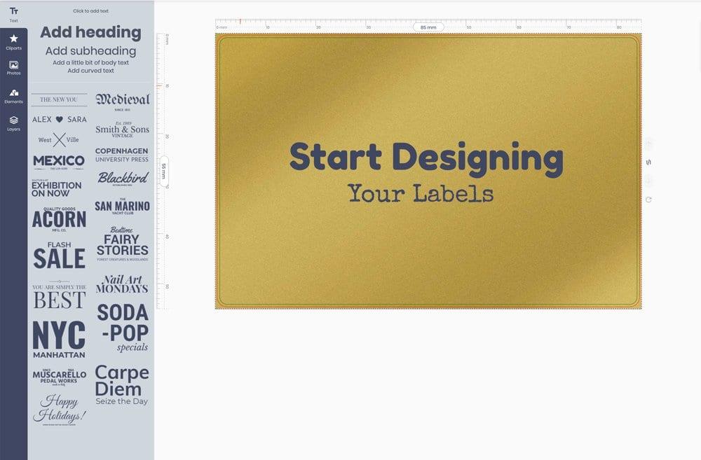 Design your labels